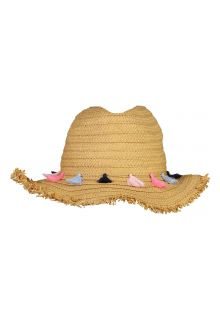 Snapper-Rock---Straw-hat-for-girls---Tassel---Beige