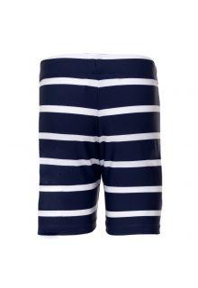Petit Crabe - UV Swim short - Striped - Navy/White - Front