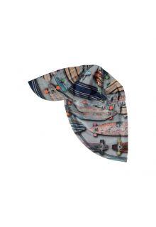Molo - UV sun cap with neck flap for kids - Nando - Skateboard print - Front