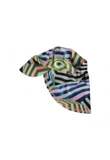 Molo - UV sun cap with neck flap for kids - Nando - Parasol print - Front