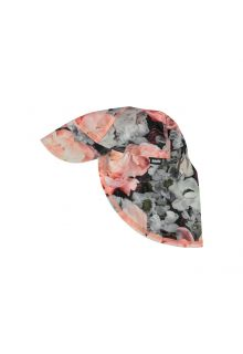 Molo - UV sun cap with neck flap for kids - Nando - Blossom print - Front