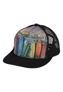 Molo---Baseball-Cap-for-children---Rainbow-Boards---Black
