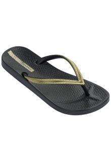 Ipanema - Flip-flops for women - Anatomic Mesh - black / gold - Front