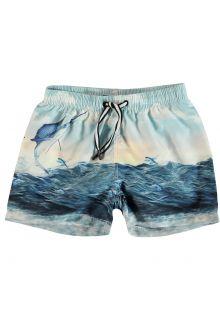 Molo - UV swim shorts for children - Niko - Catch - Front
