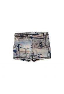Molo - UV swim shorts for kids - Norton - Volleyball Sunset - Front