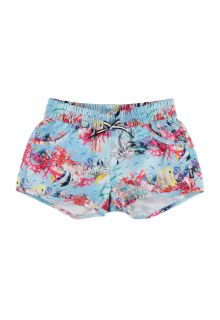 Molo---UV-Swim-shorts-for-girls---Nalika---Coral-Stripe