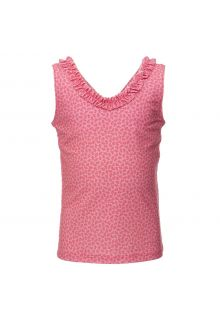 Petit Crabe - UV tankini top - Flowers - Pink - Front