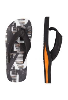 O'Neill - Boy's Flip-flops - Black and White - Front