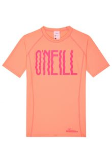 O'Neill - Short-sleeved UV-shirt for girls - Logo - peach-coloured - Front