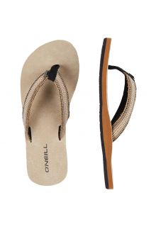 O'Neill - Women's Flip-flops with Fabric Strap - Beige - Front