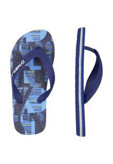 O'Neill - Boys' Flip-flops - Blue - Front