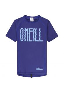 O'Neill - short sleeve UV-shirt for girls - Logo - blue - Front