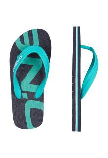 O'Neill - Flip-flops for Boys - Turquoise / Grey - Front
