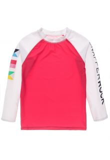 Snapper-Rock---UV-Rash-Top-for-boys---Long-Sleeve---Maritime-Fliers---Coral/White-