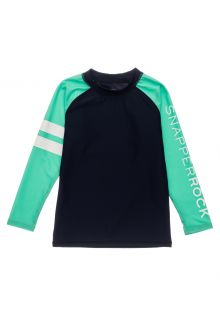 Snapper-Rock---UV-Rash-Top-for-boys---Long-Sleeve---Navyblue/Mint-