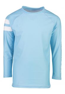 Snapper Rock - UV Swim shirt with long sleeves for boys - Light blue - Front