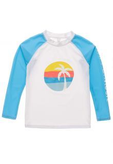 Snapper-Rock---UV-Rash-Top-for-boys---Long-Sleeve---Sunset-Stripe---White/Lightblue-