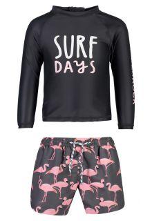 Snapper Rock - UV Swim set for babies - Surf Days - Black/Pink - Front