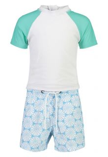 Snapper Rock - UV Swim set for babies - Oceania Sustainable - White - Front