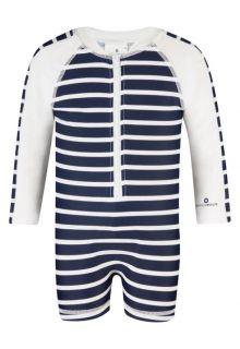 Snapper Rock - Long Sleeve Sunsuit - Navy/ White stripe - 0