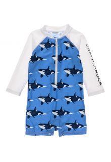 Snapper-Rock---UV-Swim-suit-for-baby-boys---Longsleeve---Orca-Ocean---Blue