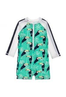 Snapper-Rock---UV-Swim-suit-for-baby-boys---Longsleeve---Toucan-Talk---Mintblue