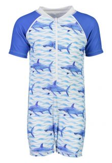 Snapper Rock - UV Swim set for babies - School of Sharks - Blue - Front
