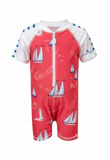 Snapper Rock - Baby UV suit Island Sail - Red - Front