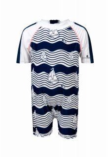 Snapper Rock - Baby UV suit Ocean Explorer - Blue - Front