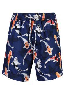Snapper Rock - UV Boardshorts for boys - Don't be Koy - Navyblue - Front