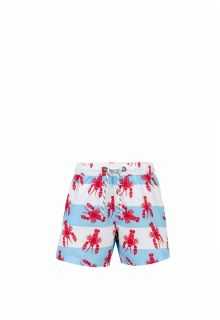 Snapper Rock - Swimming trunks Lobster - Blue / red - Front