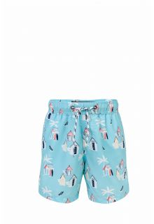 Snapper Rock - Swimming trunks boy Cabana Palm - Light blue - Front