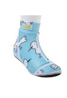 Duukies - Kids UV Beach Socks - Blue Bird - Light Blue - Front