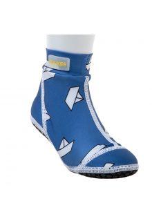 Duukies - Kids UV Beach Socks - Blue Boat - Blue - Front