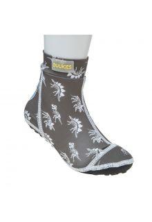 Duukies - Boys UV Beach Socks - Dino Grey - Grey - Front