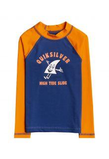 Quicksilver---UV-Swim-shirt-for-boys---Longsleeve---Bubble-Trouble---Orange