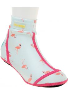 Duukies---Girls-UV-Beach-Socks---Flamingo-Mint---Mint