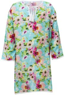 Snapper Rock - Tunic for girls - Watercolor Floral - Blue/Pink - Front