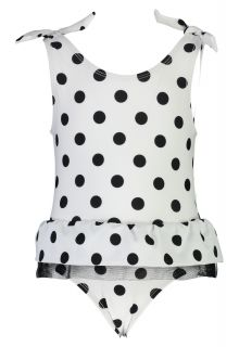 Snapper Rock - Bathingsuit for baby girls - White/Black - Front