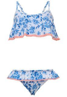 Snapper Rock - Bikini for girls - Cottage Floral - Blue/White - Front