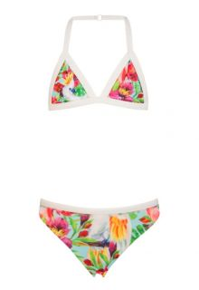Snapper Rock - Triangle bikini w/ rash top - Tropical Birds - 0