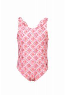 Snapper Rock - Swimsuit Diamond shoulder tie - Pink - Front