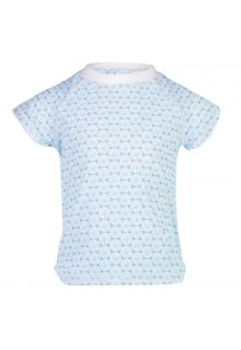 Snapper Rock - UV Swim shirt Oceania Sustainable for girls - Blue/White - Front