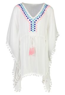 Snapper Rock - Embroided Kaftan for girls - Spot - White - Front