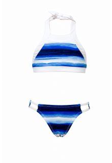 Snapper Rock - Bikini Ombre Stripe - Blue - Front