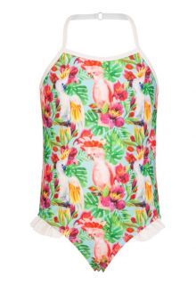 Snapper Rock - Halter Swimsuit - Tropical Birds - 0