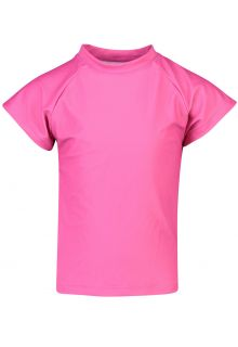Snapper Rock - UV Swim shirt for girls - Rash top - Fuchsia - Front
