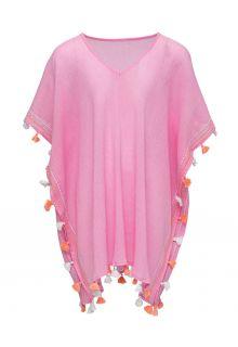 Snapper-Rock---Cover-up-Kaftan-for-girls---Pinkalicious-Tassel
