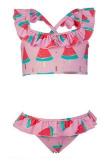 Snapper Rock - Sports Ruffle Bikini - Watermelon - 0