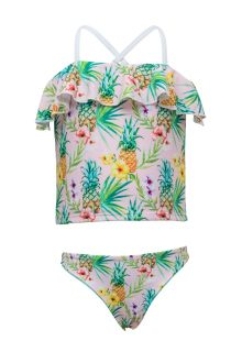 Snapper Rock - Tankini for Girls - Tropicana - Pink - Front